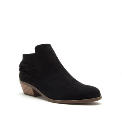 Qupid Womens Phedra 01 Bootie Block Heel Zip