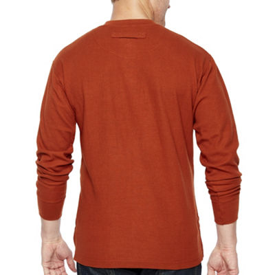 Smith Workwear Long Sleeve Thermal Henley Pullover With Gusset
