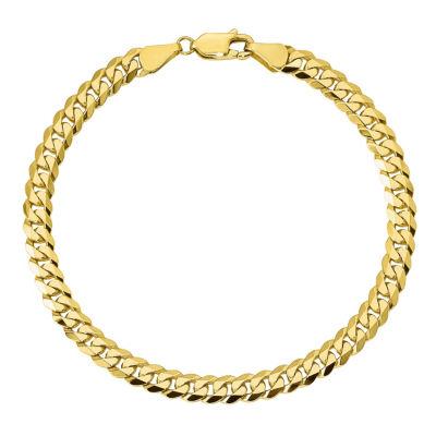 10K Gold Solid Curb Chain Bracelet
