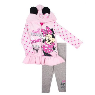 Disney 2-pc Minnie Mouse Bow Hood legging Set Toddler Girls