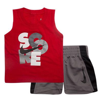 Nike Sets 2-pc.Score Muscle Tee Short Set- Baby Boys