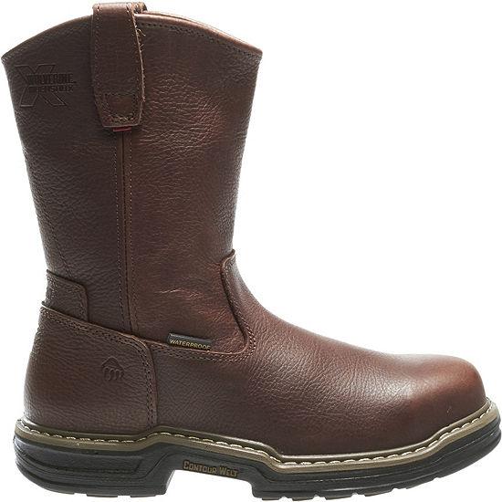 Wolverine Mens Buccaneer Waterproof Slip Resistant Steel Toe Pull-on Work Boots