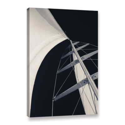 Obsession Sails 005 BW Gallery Wrapped Canvas