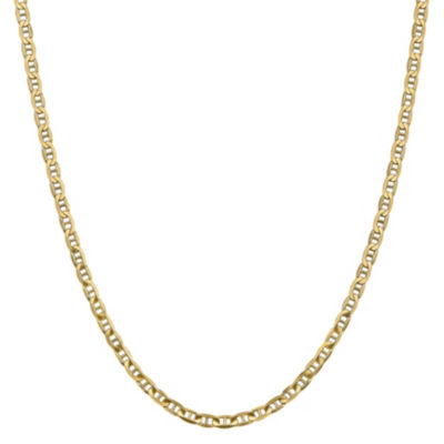 14K Gold Solid Anchor 24 Inch Chain Necklace