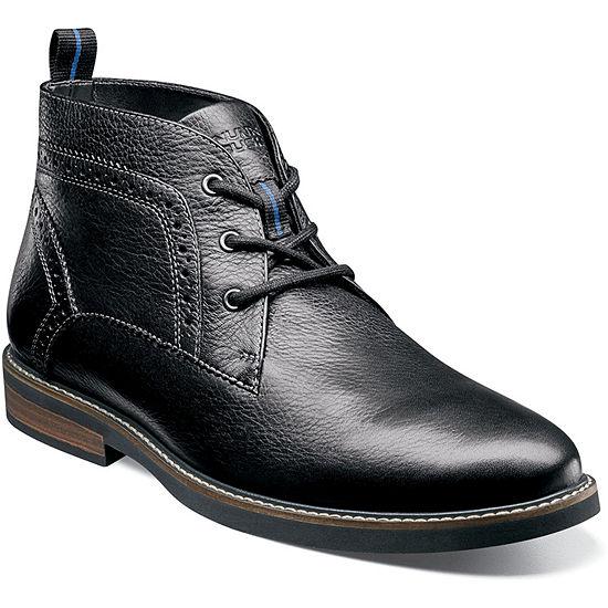 Nunn Bush Mens Ozark Chukka Boots Flat Heel