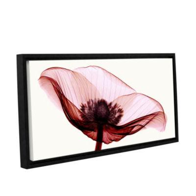 Brushstone Anemone I Floater-Framed Gallery Wrapped Canvas