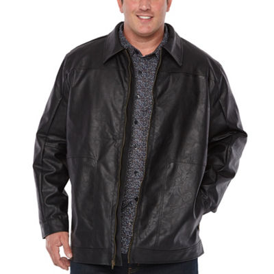 The Foundry Big & Tall Supply Co. Midweight Motorcycle Jacket - Big and Tall