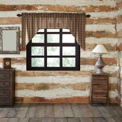 Rustic & Lodge Window Wyatt Swag Pair