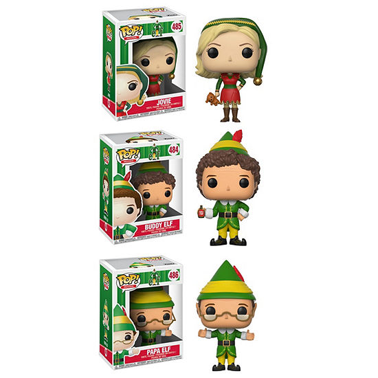 Funko Pop! Movies Elf Collectors Set; Jovie  PapaElf  Buddy The Elf W/ Syrup (Limited Chase Item Buddy Holding A Jack-In-The-Box)
