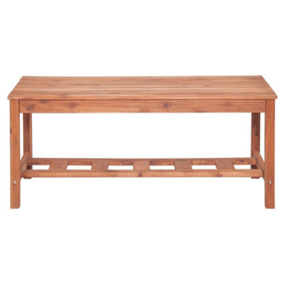Acacia Wood Ladder Base Coffee Table