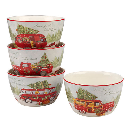 Certified International Home For Christmas 4-pc. Ice Cream Bowl