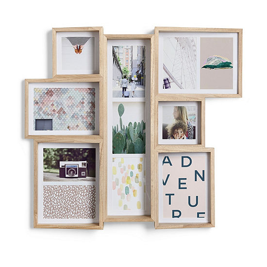 Umbra Edge Multi Walnut Natural 11-Opening Collage Frame