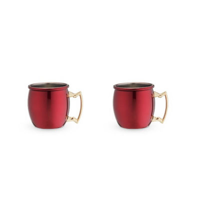 Rustic Holiday: Red Moscow Shot Mug Set By Twine