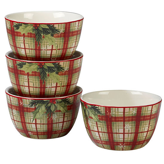 Certified International Holiday Wishes 4-pc. Ice Cream Bowl