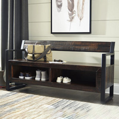 Signature Design by Ashley® Glosco Storage Bench with Shoe Cubbies