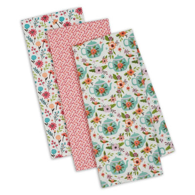 Garden Tea Party Dishtowel Set - Set of 3