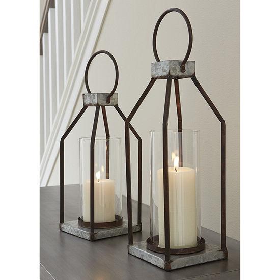 Signature Design By Ashley® Set of 2 Set of 2 Diedrick Lanterns