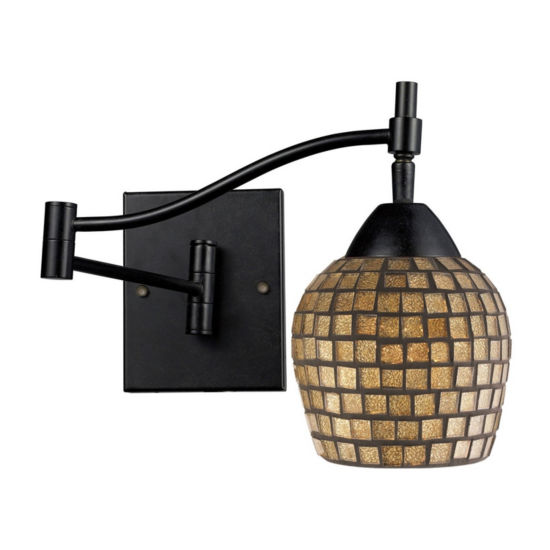 Celina 1 Light LED Swingarm Sconce In Dark Rust