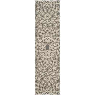 Safavieh Courtyard Collection Jacinth Geometric Indoor/Outdoor Runner Rug