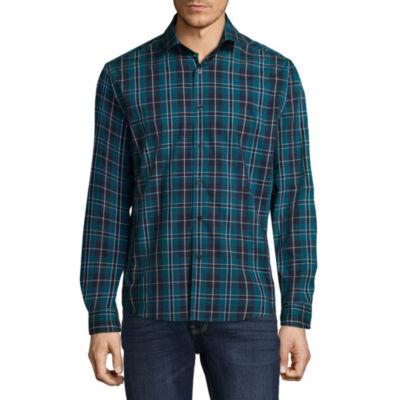 Claiborne Mens Long Sleeve Button-Front Shirt