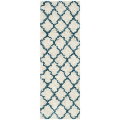 Safavieh Shag Kids Collection Crofton Geometric Runner Rug