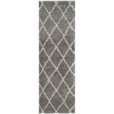 Safavieh Montreal Shag Collection Doriane Geometric Runner Rug
