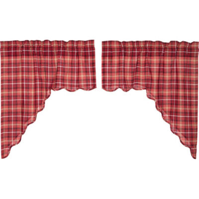 Rustic & Lodge Window Braxton Scalloped Swag Pair