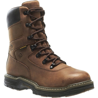 Wolverine Mens Buccaneer Waterproof Slip Resistant Steel Toe Work Boots Lace-up