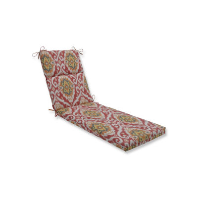 Pillow Perfect Ubud Coral Patio Chaise Lounge Cushion
