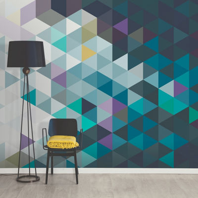 Brewster Wall Abstract Triangles Wall Mural Wall Decal