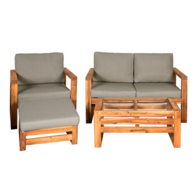 Hudson Open Side 4-pc. Outdoor Patio Chat Set