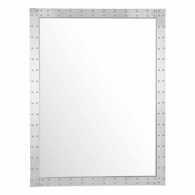 Studded Rectangular Mirror