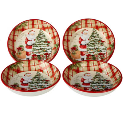 Certified International Holiday Wishes 4-pc. Pasta Bowl