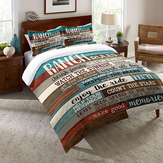 Laural Home Southwest Ranch Rules Comforter