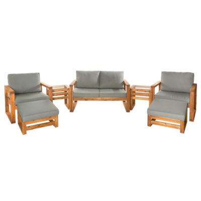 Hudson Open Side 7-pc. Outdoor Patio Chat Set