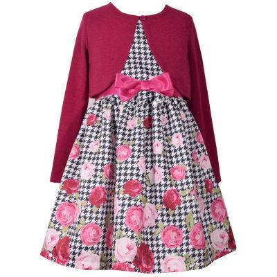 Bonnie Jean 2-pc. Cardigan Dress Toddler Girls