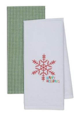 Happy Holidays Dishtowel Set - Set of 4