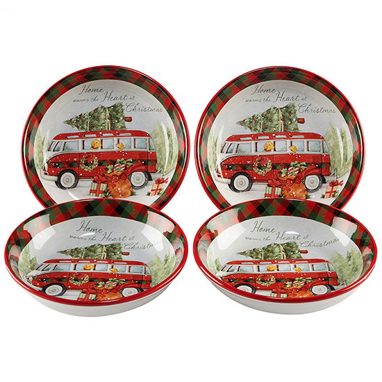 Certified International Home For Christmas 4-pc. Pasta Bowl