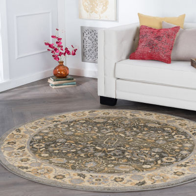 Tayse Jonathan Traditional Oriental Round Area Rug