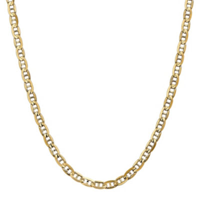 14K Gold Solid Anchor 18 Inch Chain Necklace