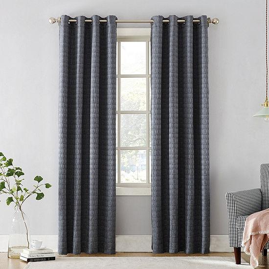 Sun Zero Curtis Energy Saving Blackout Grommet-Top Curtain Panel
