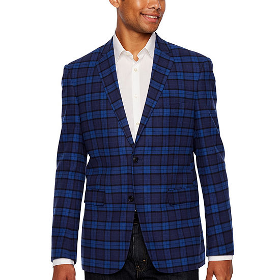 U.S. Polo Assn. Blue Plaid Classic Fit Sport Coat