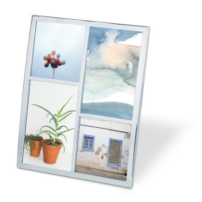 Umbra Senza Multi Photo Display Chrome 3-Opening Tabletop Frame