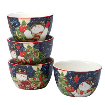 Certified International Starry Night 4-pc. Ice Cream Bowl