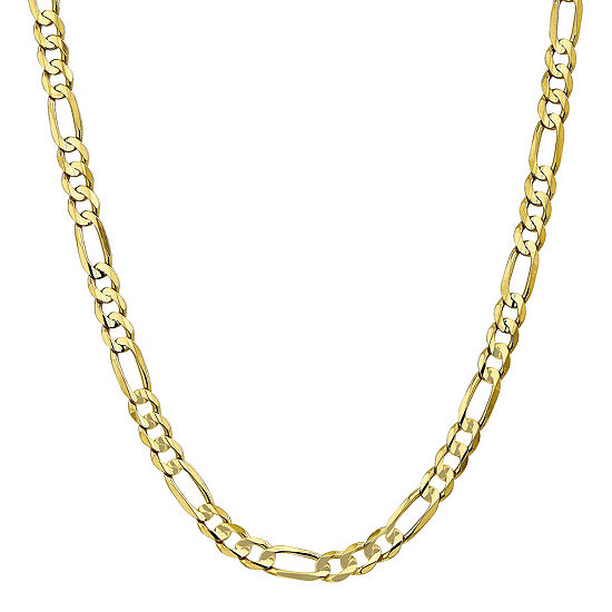 10K Gold 20 Inch Solid Figaro Chain Necklace