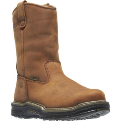 Wolverine Mens Marauder Waterproof Slip Resistant Steel Toe Work Boots Pull-on