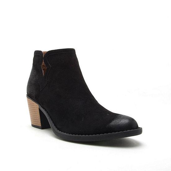 Qupid Womens Tobin 119 Booties Block Heel