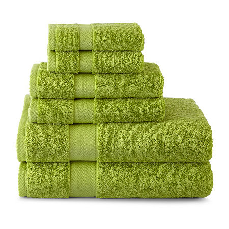 JCPenney Home Solid Bath Towels, One Size , Green