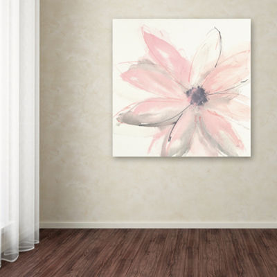 Trademark Fine Art Chris Paschke Blush Clematis IGiclee Canvas Art