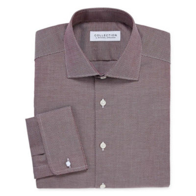 Collection by Michael Strahan  Wrinkle Free Cotton Stretch Long Sleeve Woven Diamond Dress Shirt